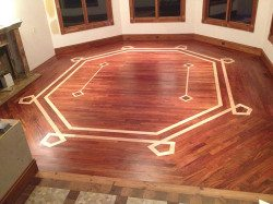 Brazilian Cherry Floor with Tiger Stripe Maple Inlay_53